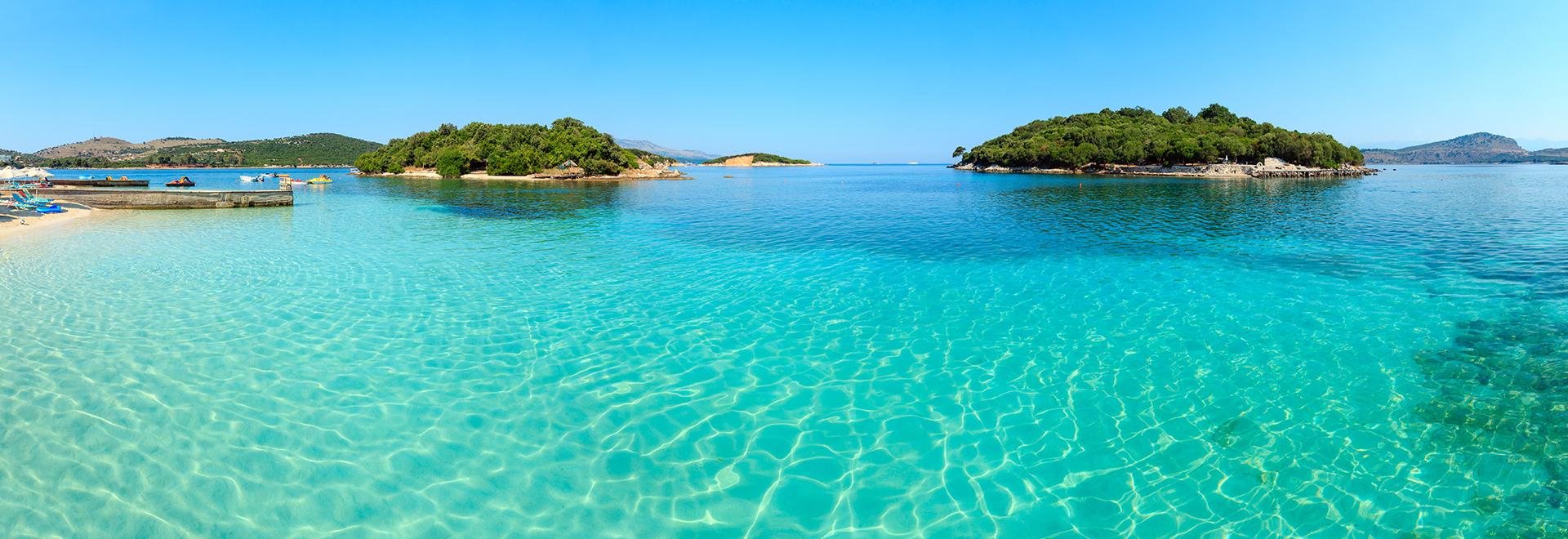 Ksamil plage de Ksamil, ile, Albanie, voyages et vacances en Albanie