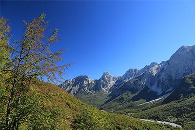 Valbone vue panoramique nord Albanie